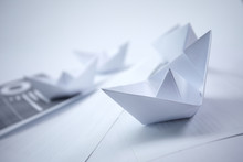 Business Concept - Paper Boats...