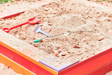 Empty Playground Sandbox With ...
