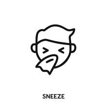 Sneeze Icon Vector. Flu Icon V...