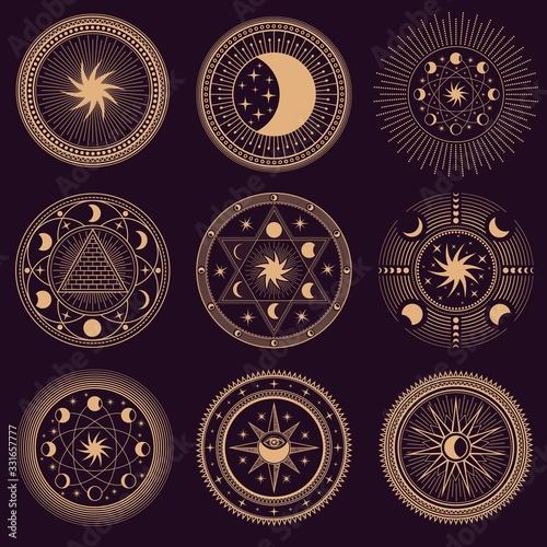 Papel de parede Mystic circle symbols