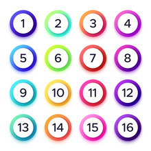 Numbers In Colorful Gradient F...