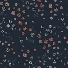 Cute Floral Seamless Pattern, ...