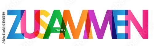 Photo Typografie vektor ZUSAMMEN
