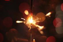 Festive Burning Sparkler Macro...