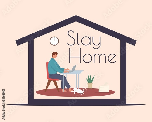 Papel de parede Stay home during the coronavirus epidemic