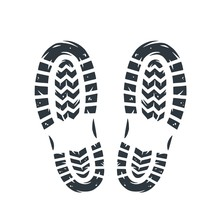 Footprints Of Human Shoes People Foot Steps