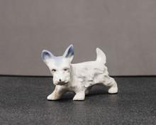 Small White Scottie Dog Sculpture Of Unknown Origins