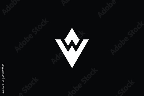 Photo Minimal elegant monogram art logo