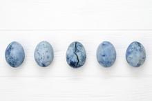 Five Blue Marble Eggs Like Dra...