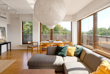 Spacious Apartment With Window Walls