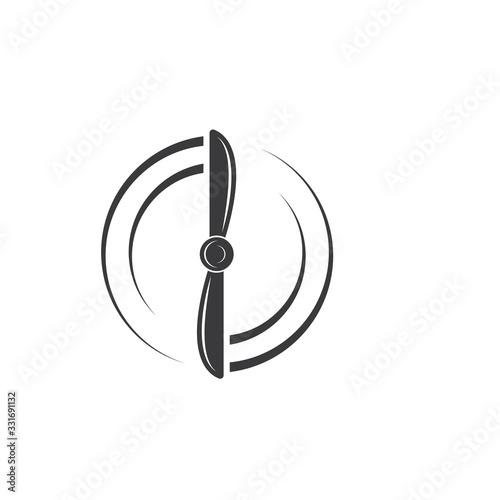 Fotografiet airplane propeller  vector illustration design