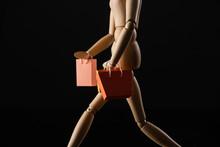 Wooden Doll Imitating Walking ...