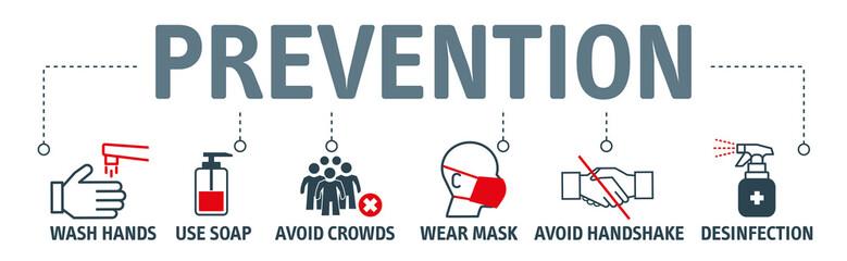 Fototapeta na wymiar Coronavirus Prevention Vector Illustration Set