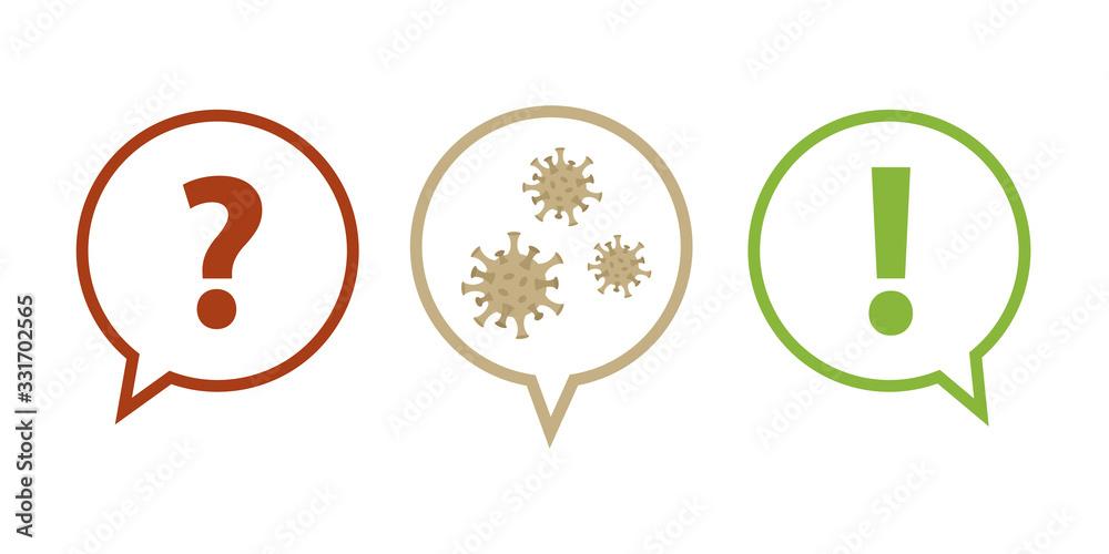 Fototapeta question and answer faq virus info graphic vector illustration EPS10
