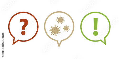 question and answer faq virus info graphic vector illustration EPS10 Wallpaper Mural