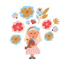 Illustration -girl Hugging Yor...