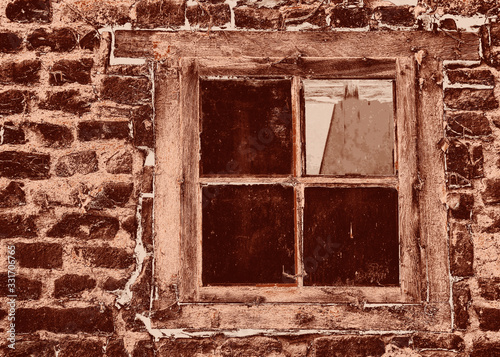 Fenster, Ruine, alt Wallpaper Mural