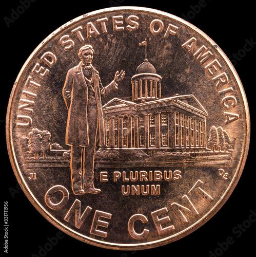 Fényképezés One dime coin. Country: USA