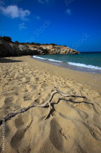 Carta da parati Alyko beach, Naxos / Greece - August 24, 2014: Alyko beach view in Naxos, Cyclad