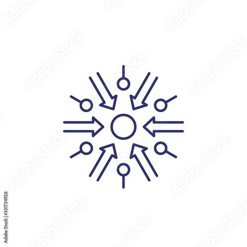 Foto specific purpose icon, line on white