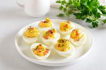Stuffed Eggs With Egg Yolk, Ba...
