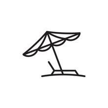 Beach Umbrella Icon In Trendy ...