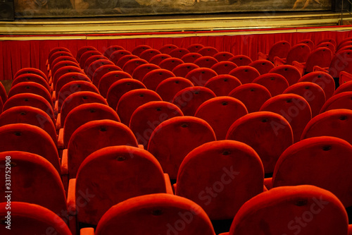An empty auditorium in theatre Canvas Print