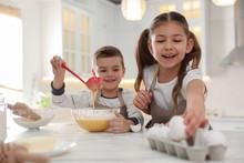 Cute Little Children Cooking D...