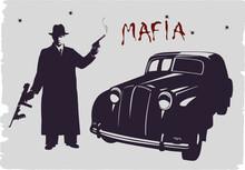 Dark Silhouette Of A Gangster ...