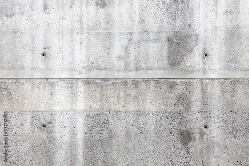 Gray concrete wall, front view, background texture