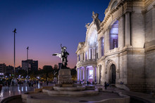 Bellas Artes Palace In Mexico City Sunset