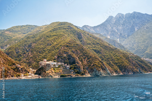 Photo Mount Athos and Monastery of St. Dionysius