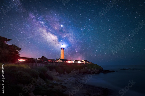 Canvastavla Milky Way at Pigeon Point Lighthouse, Pescadero, California