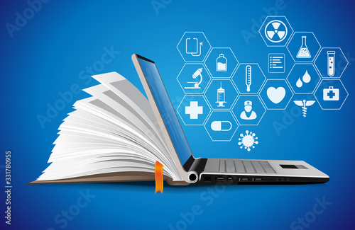 Photo Healthcare knowledge base - medical online repository concept - elearning