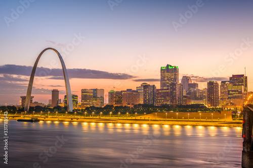 Fotomural St. Louis, Missouri, USA Skyline