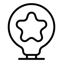 Star Idea Innovation Icon. Out...
