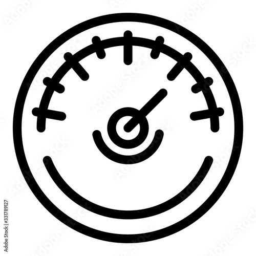 Air barometer icon Wallpaper Mural