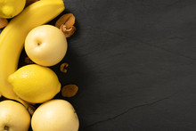 Fruits Background Yellow Color...
