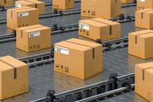 Cardboard Boxes, Parcels On Co...