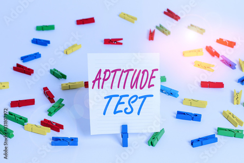 Conceptual hand writing showing Aptitude Test Canvas Print