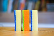 Three Colorful Sponges On The ...
