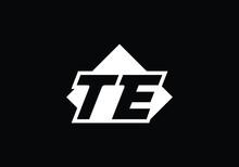 T E, TE Initial Letter Logo Design Vector Template, Graphic Alphabet Symbol For Corporate Business Identity