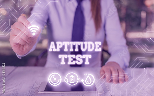 Writing note showing Aptitude Test Canvas Print