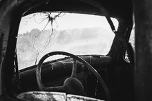 Old Car On A Farm