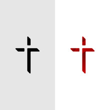 Christian Cross Church Logo De...