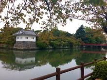 River Near Castle In  Odawara,...