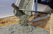 Concrete Truck With Pouring Ce...