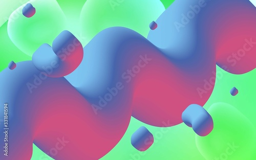 Photo Light Green vector pattern with lamp shapes