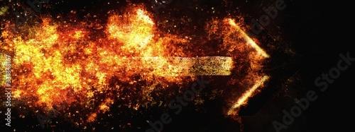 Fotografie, Tablou 爆発する矢印の抽象的な背景