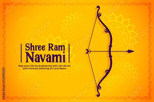 happy ram navami festival wishes card background Fototapet